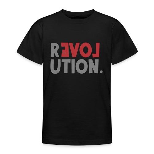 Revolution Love Sprüche Statement be different - Teenager T-Shirt