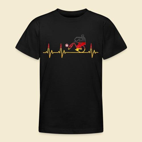 Radball | Cycleball Heart Monitor Germany - Teenager T-Shirt
