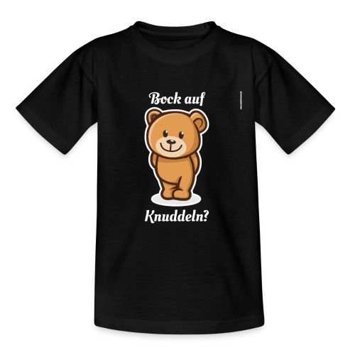 Teddybär - Bock auf Knuddeln? white-on-black - Teenager T-Shirt