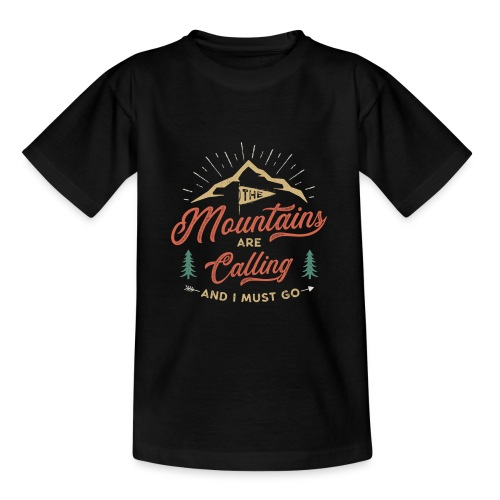Mountains Are Calling - Maglietta per ragazzi