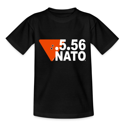 .5.56 NATO BLANC - T-shirt Ado