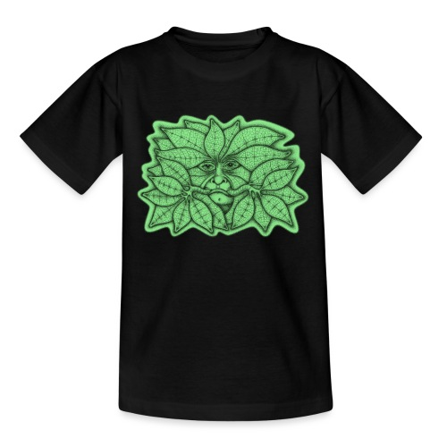 Green Man for Pagan Global Warming/Climate Change - Teenage T-Shirt