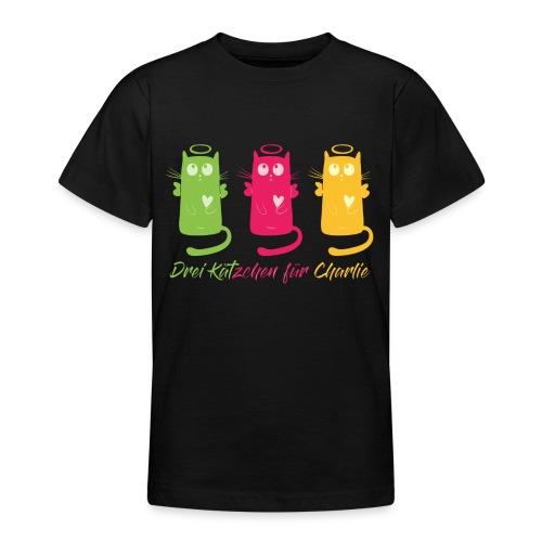 """Katze, """"Drei Kätzchen für Charlie"""" - Teenager T-Shirt"""