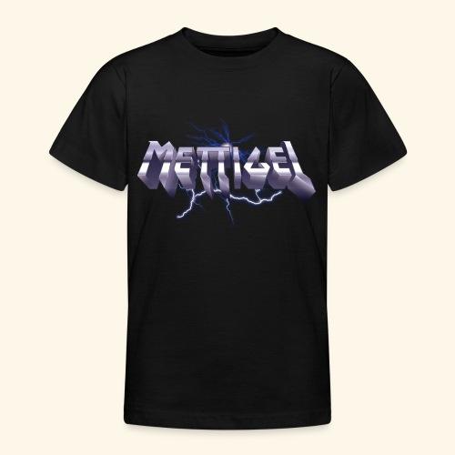 Mettigel T Shirt Design Heavy Metal Schriftzug - Teenager T-Shirt