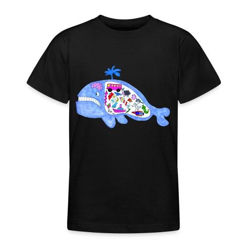 ballena de cosas recortado prueba - Camiseta adolescente