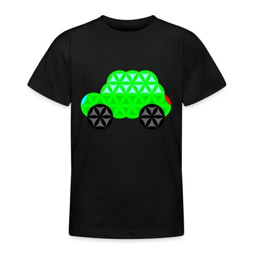 The Car Of Life - 01, Sacred Shapes, L/Green. - Teenage T-Shirt