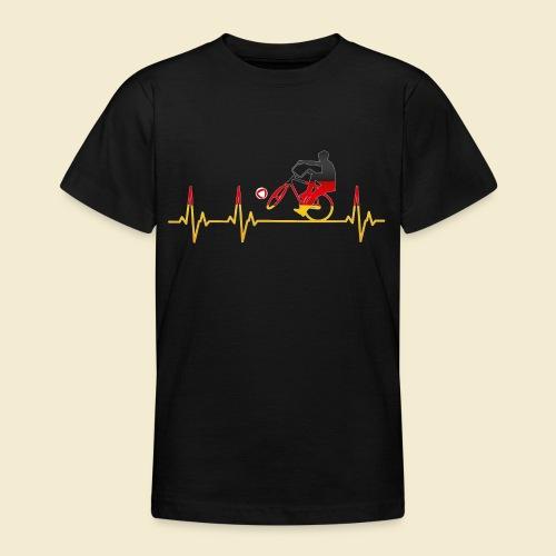 Radball   Cycleball Heart Monitor Germany - Teenager T-Shirt