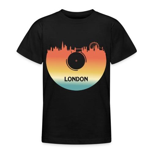 London Skyline Vinyl Schallplatte London Souvenir - Teenager T-Shirt