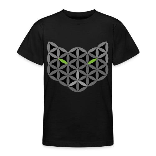 The Cat Of Life - Sacred Animals,C01, Dark, . - Teenage T-Shirt