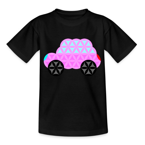 The Car Of Life - 01, Sacred Shapes, Pink. - Teenage T-Shirt