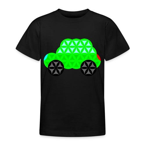 The Car Of Life - M01, Sacred Shapes, Green/R01. - Teenage T-Shirt