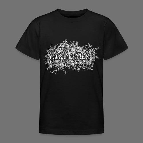 carpe diem (valkoinen) - Nuorten t-paita