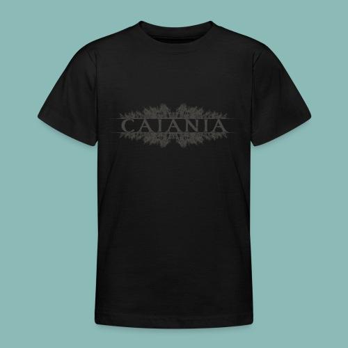 Caiania-logo harmaa - Nuorten t-paita