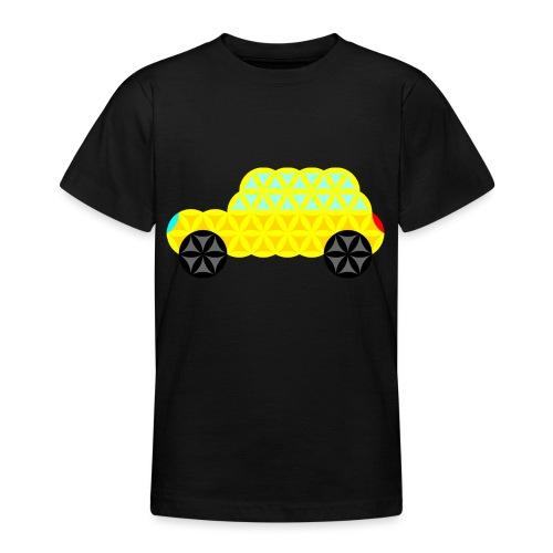 The Car Of Life - 02, Sacred Shapes, Yellow. - Teenage T-Shirt