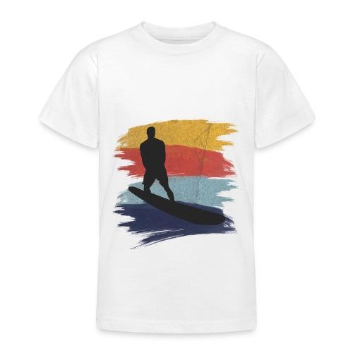 Wellenreiten Retro-Stil, Vintage - Teenager T-Shirt