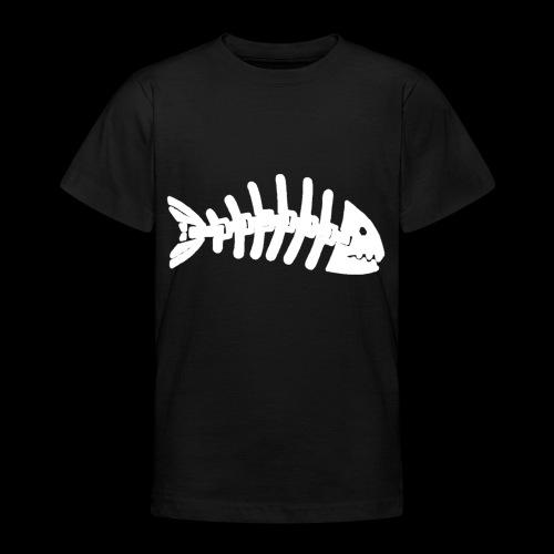 Kun fiske logo - T-skjorte for tenåringer