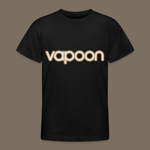 Vapoon Logo simpel 2 Farb - Teenager T-Shirt