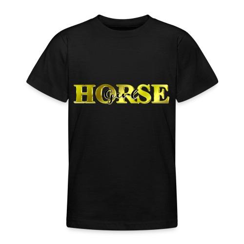 Horsegirl Reiten Pferde Geschenk - Teenager T-Shirt