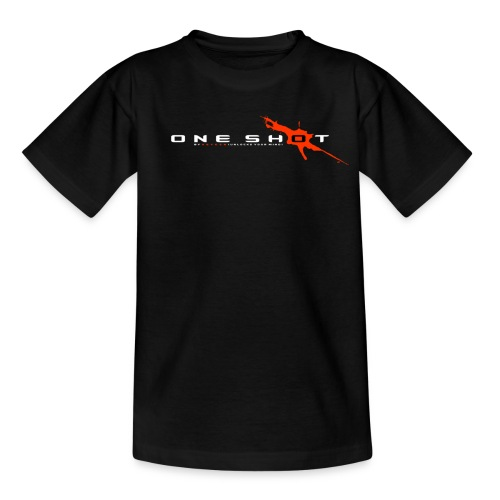 One Shot Black White Orange - T-shirt Ado