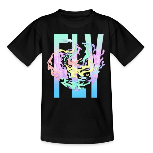Fly paper plane - Teenager-T-shirt