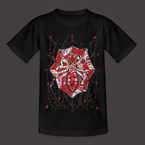 Spider Dentelle Red - T-shirt Ado