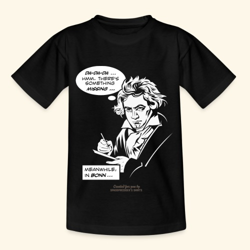 Beethoven T-Shirt Comic Fünfte Symphonie Beethoven - Teenager T-Shirt