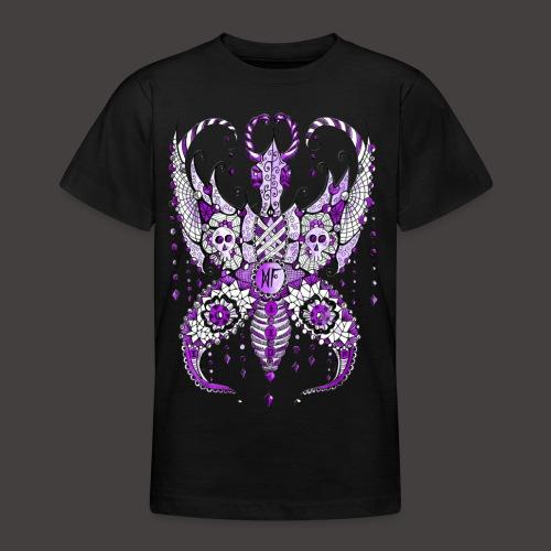 Papillon Lilou Violet - T-shirt Ado