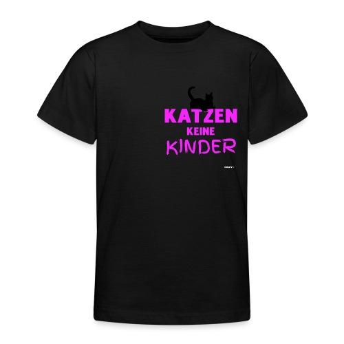 Meine Katzen sind meine Kinder Katzenliebhaber - Teenager T-Shirt