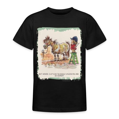 Thelwell Cartoon Pony beim Friseur - Teenager T-Shirt