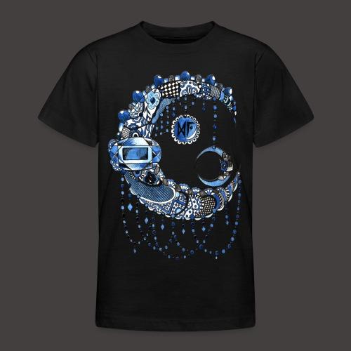 Lune dentelle bleue fonce - T-shirt Ado