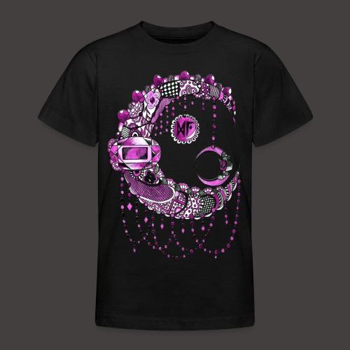 Lune dentelle Rose - T-shirt Ado