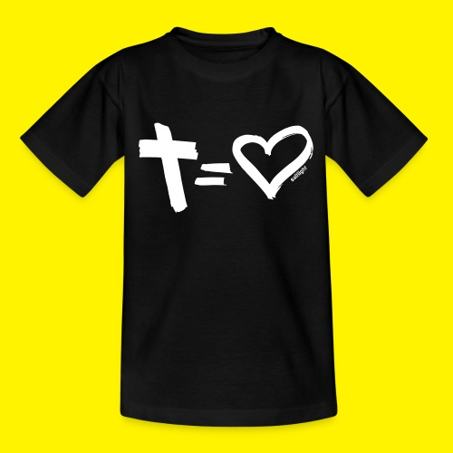 Cross = Heart WHITE // Cross = Love WHITE - Teenage T-Shirt