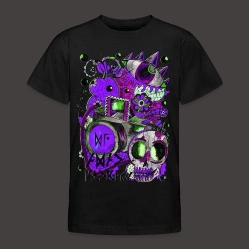 AGAC Picture Vert et Violet - T-shirt Ado