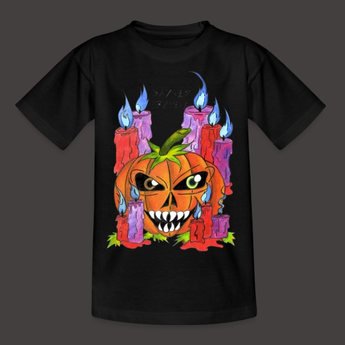 CANDLE PUMPKIN - T-shirt Ado