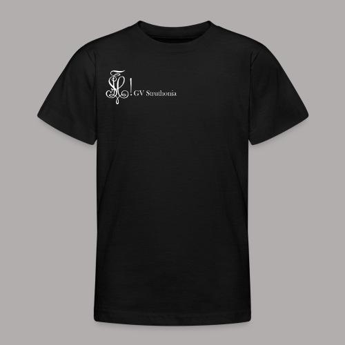 Zirkel mit Name, weiss (vorne) - Teenager T-Shirt