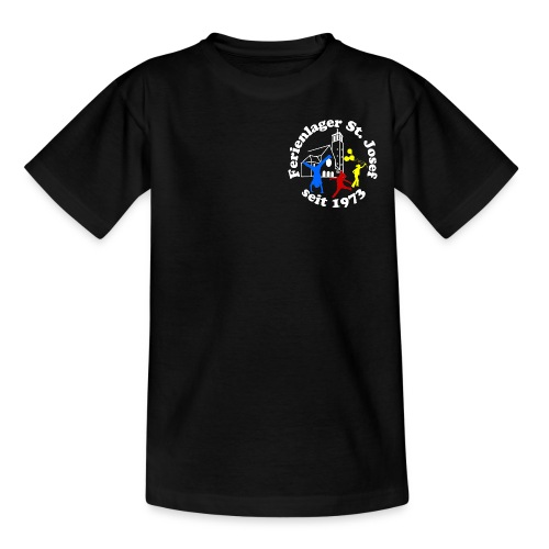 Logo Gif weiss farbig 120dpi 2000px - Teenager T-Shirt