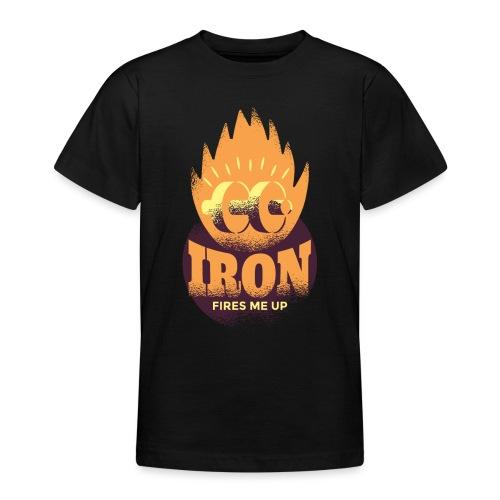 Eisen Feuer feuert mich an Bodybuilding Fitness - Teenager T-Shirt