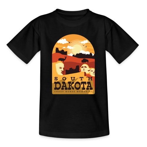 Cooles South Dakota Design online - Teenager T-Shirt