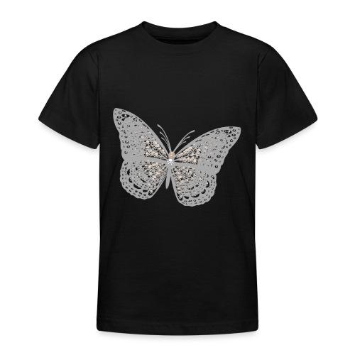 Süßer Schmetterling mit filigranen Totenköpfen - Teenager T-Shirt