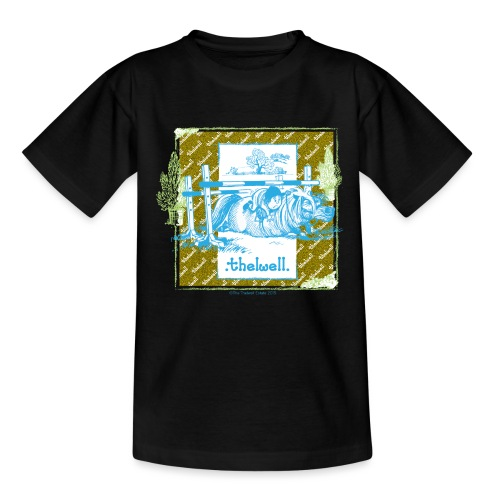 Thelwell Cartoon Pony Sturz Rahmen - Teenager T-Shirt