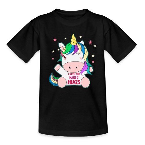süßes Pferd Freunde sitzen Unicorn Geschenk - Teenager T-Shirt