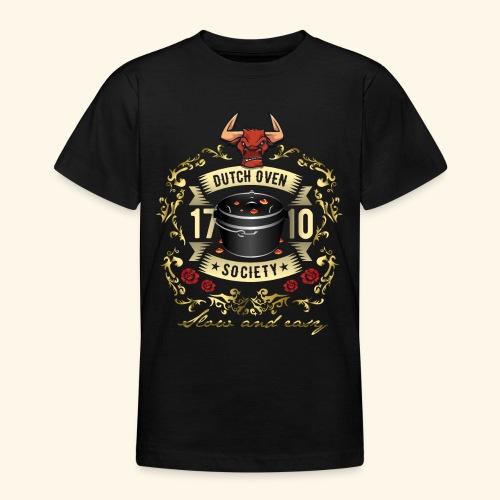 Grill-T-Shirt Dutch Oven Society - Geschenkidee! - Teenager T-Shirt