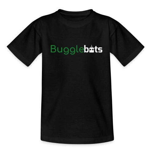 Bugglebots Black Clothing & Accessories - Teenage T-Shirt