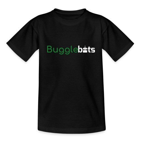 Bugglebots Black Clothing & Accessories - Teenage T-Shirt