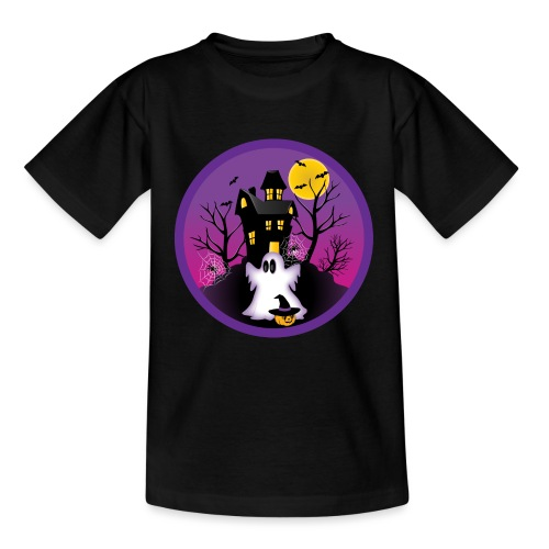 Spooky Halloween Ghost - Teenage T-Shirt