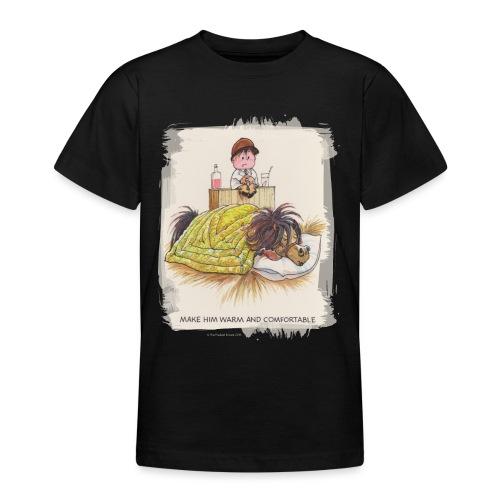 Thelwell Cartoon Pony liegt unter der Bettdecke - Teenager T-Shirt