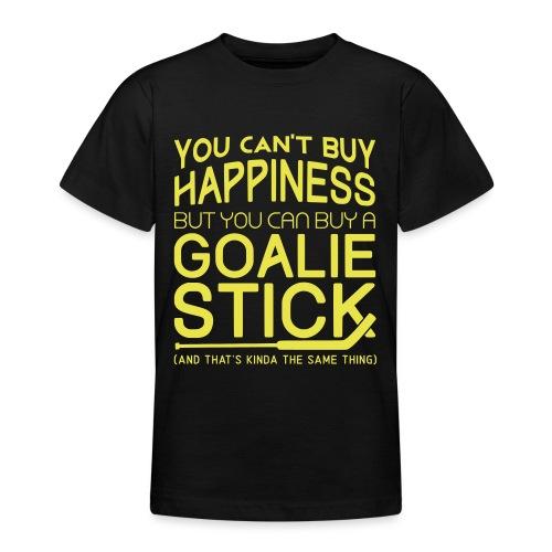 You Can't Buy Happiness (Ice Hockey Goalie) - Teenage T-Shirt