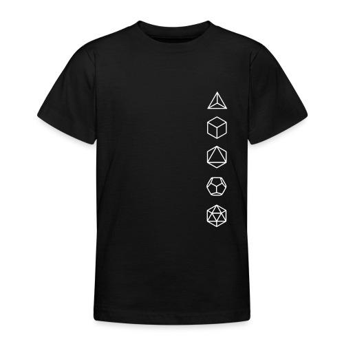 Platonische Körper Bausteine des Lebens Elemente - Teenager T-Shirt