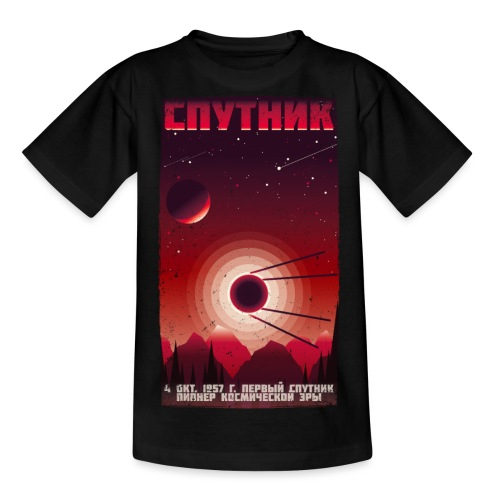 SPUTNIK Satellit Vintage Plakat - Sowjetunion - Teenager T-Shirt