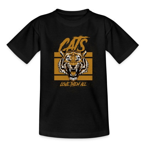 Cats, love them all - Teenager T-shirt